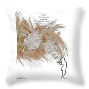 Anyone Who Encourage Growth Throw Pillow
