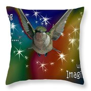 Anything Is Possible With Imagination  Rainbow Throw Pillow