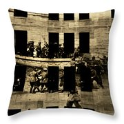 Anzac Pictures Projected In Martin Place 20 Throw Pillow