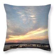 Aonang Sunset Throw Pillow