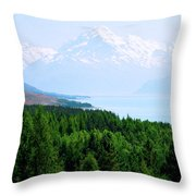 Aoraki Mount Cook Throw Pillow