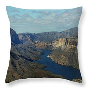 Apache Lake Panorama Throw Pillow