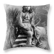 Apache Leader, 1885 Throw Pillow