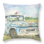 Apache Out To Pasture Throw Pillow