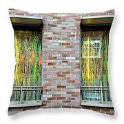 Apartment Window Throw Pillow