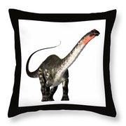 Apatosaurus Profile Throw Pillow