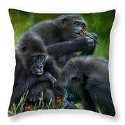 Ape Moods Throw Pillow