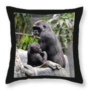 Apes Throw Pillow