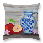Apfelwein Story Throw Pillow