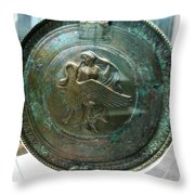 Aphrodite With Swan Throw Pillow