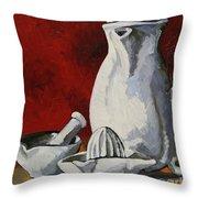 Apilco No. 4 Throw Pillow by Erin Fickert-Rowland