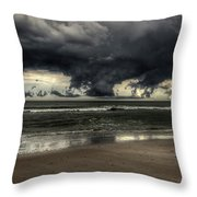 Apocalyptic Clouds Over The Atlantic Throw Pillow