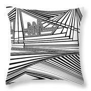 Apocalyptic Ringside View Throw Pillow