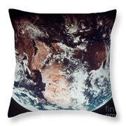Apollo 11: Earth Throw Pillow
