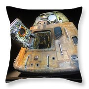 Apollo 14 Command Module Kitty Hawk Throw Pillow