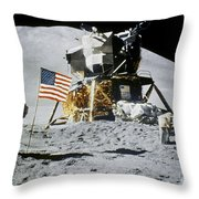 Apollo 15: Jim Irwin, 1971 Throw Pillow