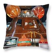 Apollo Boilerplate Command Module Throw Pillow