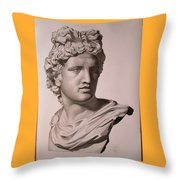 Apollo Bust Drawing Throw Pillow