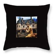 Apollo Playing The Flute Throw Pillow