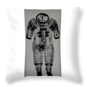 Apollo Space Suit X-ray Throw Pillow