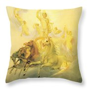 Apollo With The Hours Throw Pillow