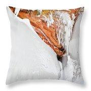Apostle Islands Frozen Canyon Throw Pillow