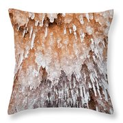 Apostle Islands Icicle Cave Throw Pillow