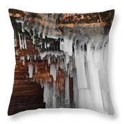 Apostle Islands Icicles Throw Pillow