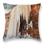 Apostle Islands Waterfall Throw Pillow