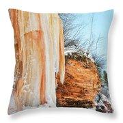 Apostle Islands Waterfall Portrait Throw Pillow