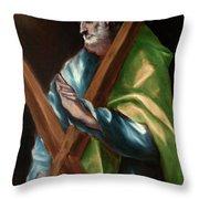 Apostle Saint Andrew Throw Pillow