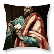 Apostle Saint Paul Throw Pillow
