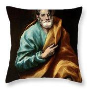 Apostle Saint Peter Throw Pillow
