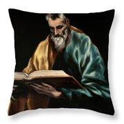 Apostle Saint Simon Throw Pillow