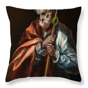 Apostle Saint Thaddeus, Jude Throw Pillow