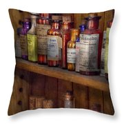 Apothecary - Inside The Medicine Cabinet  Throw Pillow