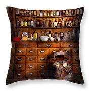 Apothecary - Just The Usual Selection Throw Pillow