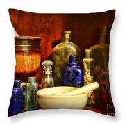 Apothecary - Tools Of The Pharmacist Throw Pillow