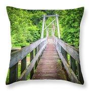 Appalachian Bridge Throw Pillow