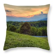 Appalachian Evening Throw Pillow