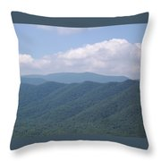 Appalachian Forest Ridge Throw Pillow