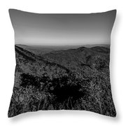Appalachian Mountains From Mount Mitchell, The Highest Point In  Throw Pillow
