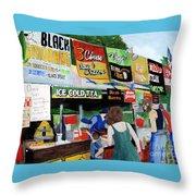 Appalachian Picnic Throw Pillow