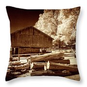 Appalachian Saw Mill Throw Pillow
