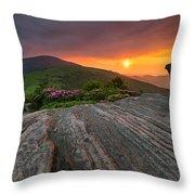 Appalachian Trail Roan Highlands Jane Bald Sunset Landscape Throw Pillow