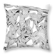 Apparitions Throw Pillow