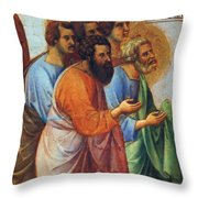 Appearance Of Christ To The Apostles Fragment 1311 Throw Pillow