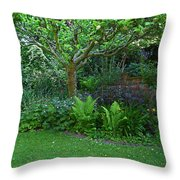 Apple And Fern Throw Pillow