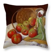Apple Annie Throw Pillow