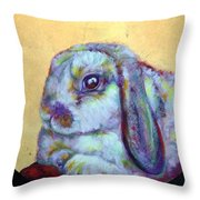Apple Throw Pillow by Ashley Kujan